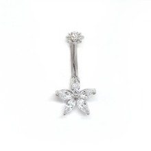 Load image into Gallery viewer, Yellow Flower Belly Ring