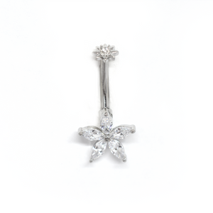 Yellow Flower Belly Ring