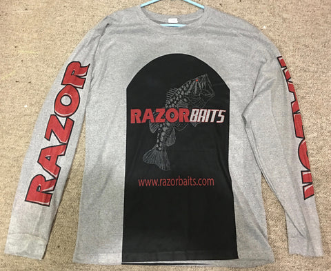 RAZOR BAITS Logo Light Weight LS fishing shirt