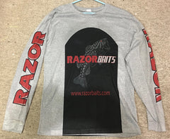 RAZOR BAITS logo Light Weight Long Sleve fishing shirt