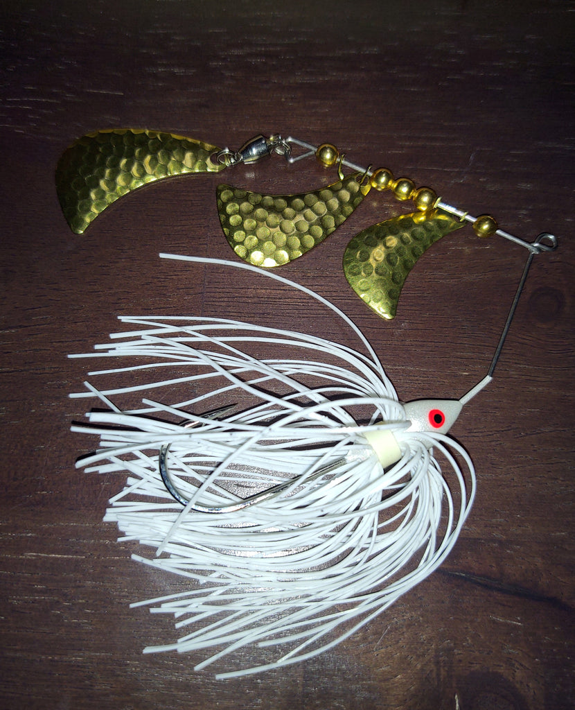 SAMURAI SPIN spinnerbaits with Hammered Brass Tom A Hawk blades