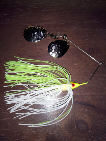 RAZOR SPIN spinnerbaits with Hammered Nickel Colorado blade