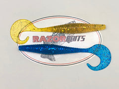 "6"" Big Mama  8pk     RAZOR BAITS Custom Design"