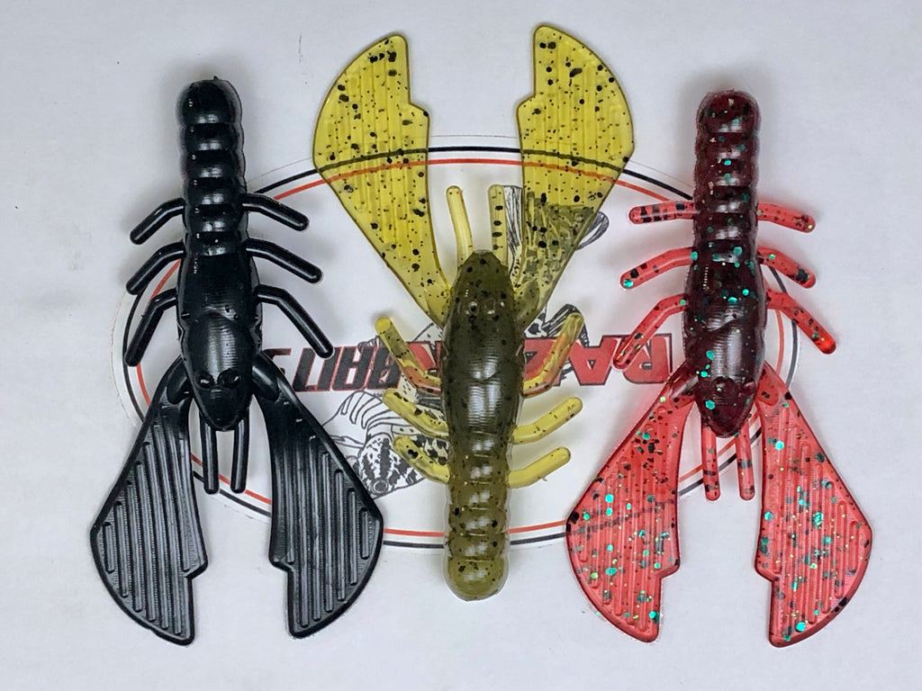 "4"" CASH CRAW 8pk      RAZOR BAITS Custom Design"