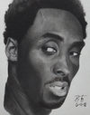 Limited Edition Kobe Bryant Graphite Print-Casiano Art
