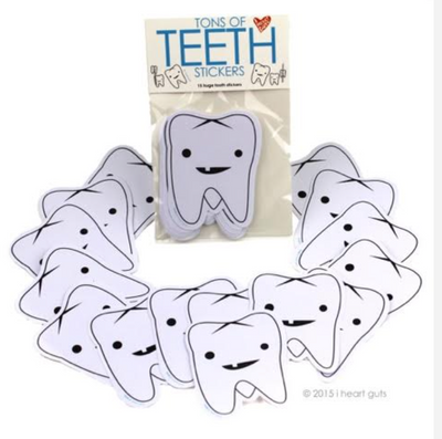 Tons of Teeth Stickers (pack of 15) - Latootha
