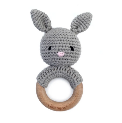 Bunny Teething Rattle - latootha.com