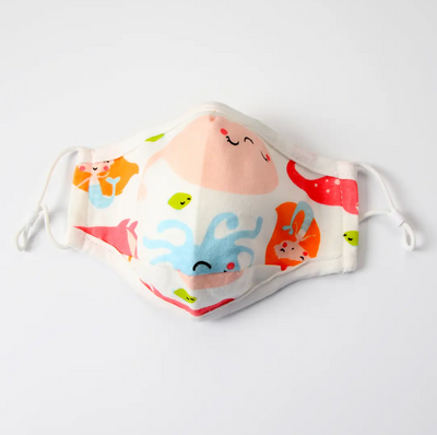 Kid's Cotton Face Mask With Filter Pocket- Under the Sea - Latootha