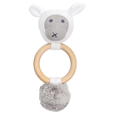 Organic Cotton Sheep Rattle / Teether - Latootha