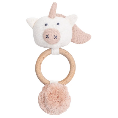 Organic Cotton Unicorn Rattle / Teether - latootha.com