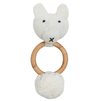Organic Cotton Bear Rattle / Teether - latootha.com