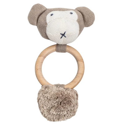 Organic Cotton Monkey Rattle / Teether - Latootha