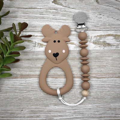 Moose Teether With Clip - Latootha