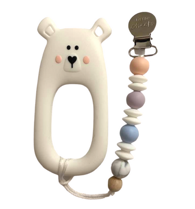 Bear Teether With Clip - latootha.com