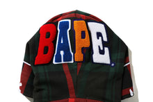 Load image into Gallery viewer, Bape Check 2nd Ape Wide Full Zip Hoodie