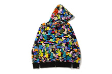 Load image into Gallery viewer, Multi Camo Shark Full Zip Hoodie M