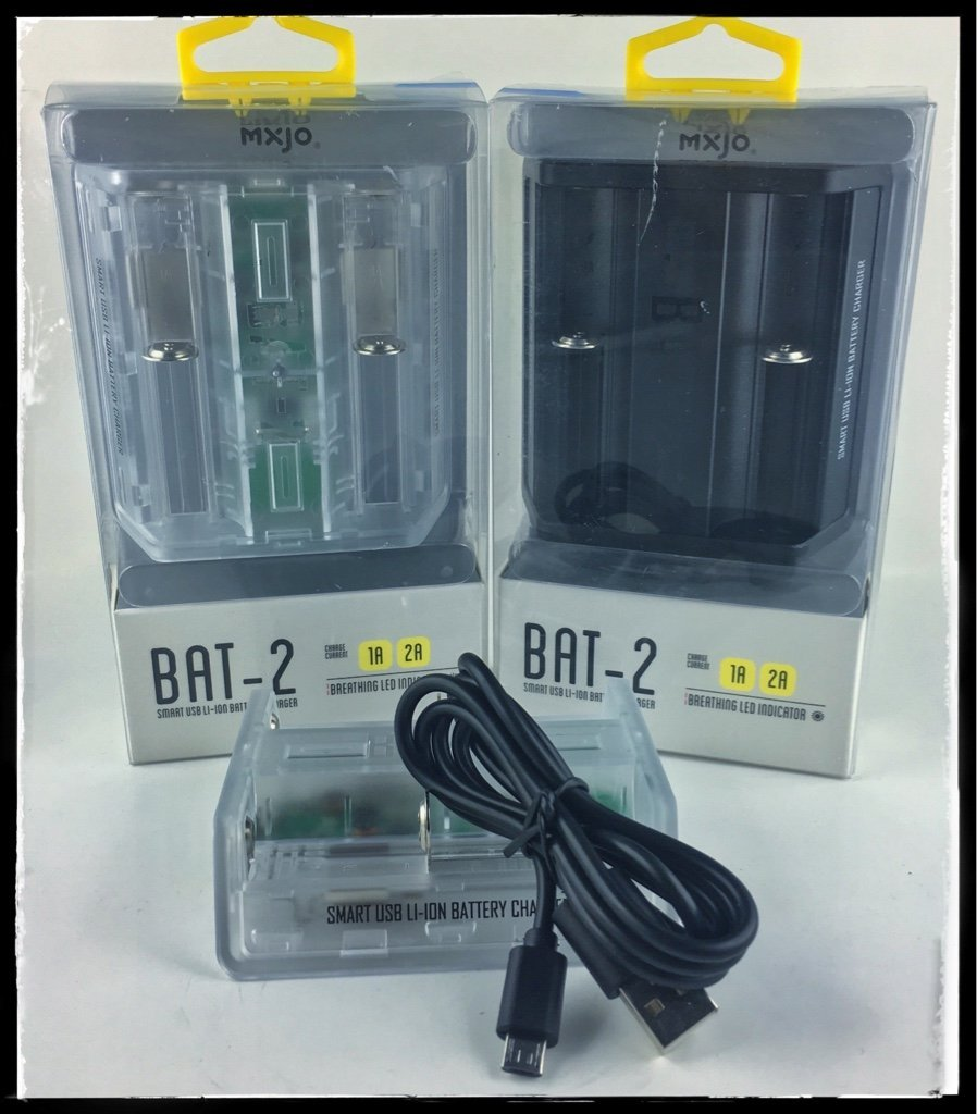 MXJO BAT-2 DUAL TWO BAY BATTERY CHARGER ACCESSORY THREE COLORS | kanVape