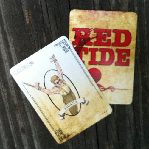 Hanging Iguana Collector's Card - Red Tide First Edition (Limited)