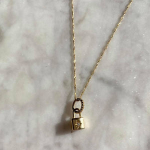 Padlocked Star Necklace