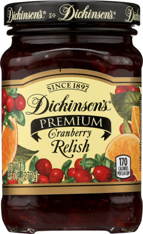 Dickinson  Relish Cranbry Country, 9.6OZ.