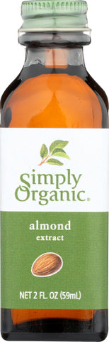 Simply Organic  Extract Almond Org, 2OZ.