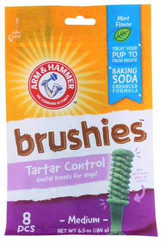 Arm & Hammer  Treat Brushies Trtr Dog,8PC.