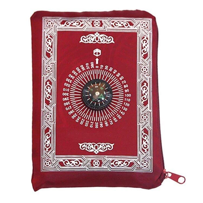 Pocket Sized Travel Prayer Mat With Compass