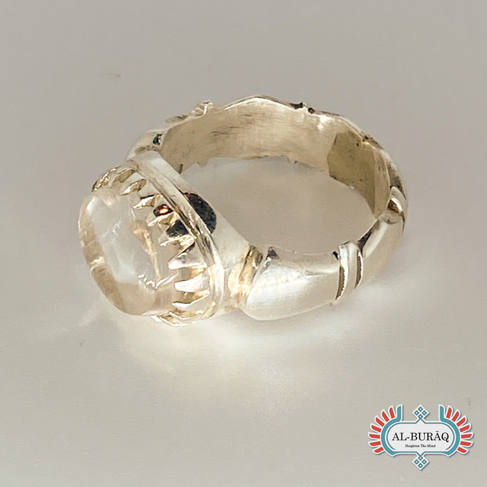 Dar Najaf White/Clear Ring-al-Burāq