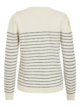 Load image into Gallery viewer, Vila – Long Sleeved O-Neck Knit Top - Cream - Edie
