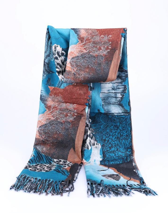 One More Fashion - Scarf - Teal - YS2560
