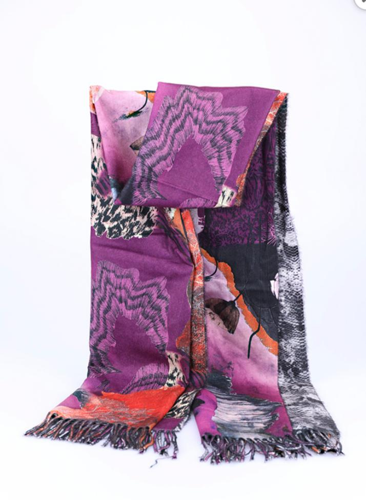 One More Fashion - Scarf - Purple - YS2560