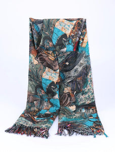 One More Fashion - Scarf - Teal - YS2571