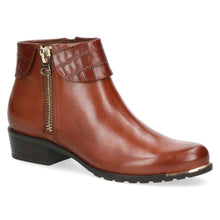 Load image into Gallery viewer, Caprice - Leather Ankle Boot - Cognac - 25310
