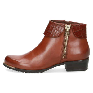 Caprice - Leather Ankle Boot - Cognac - 25310