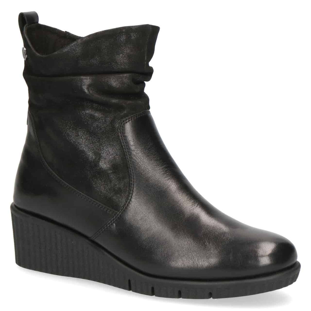 Caprice Leather Wedge Ankle Boot - 25460W