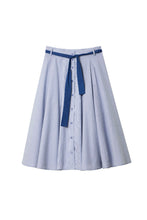 Load image into Gallery viewer, Md'M – Stripe Skirt  – Royal Blue – 26943609