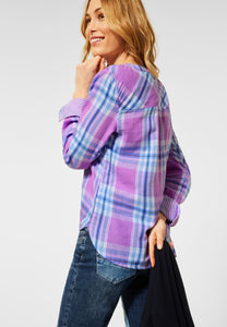 Cecil – Check Shirt – Purple - 342483