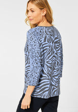 Load image into Gallery viewer, Cecil – Zebra Top – Blue - 315951