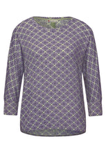 Load image into Gallery viewer, Street One – Printed Shirt with Elastic Bottom  – Green – 316094
