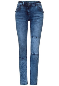 Cecil – Jeans 30 Leg – Medium Blue Denim - 373907