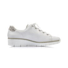 Load image into Gallery viewer, Rieker - Womens White Trainer - White - 53701