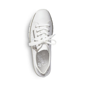 Rieker - Womens White Trainer - White - 53701
