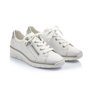 Rieker Womens White Trainer
