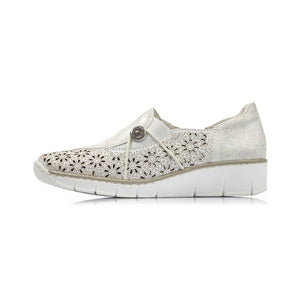 Rieker - Womens Floral Shoe - Off-White - 537N8