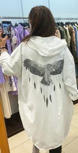 Miss Style – Wings Jacket - White - 80053