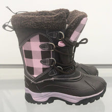 Load image into Gallery viewer, Lipstick – Check Snowboots – Kids – Pink / Brown