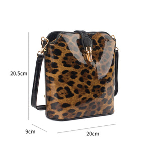 DC - Leopard Small Buckle Handbag - Coffee - 8203LPW