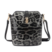 Load image into Gallery viewer, LYDC - Leopard Small Buckle Handbag - Black - 8203LPW