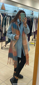 Lidy Scarf - Pink/Blue - 91178