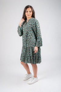 Leopard Tunic with Frill End 6028